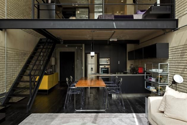 Industrial Bachelor Pad Loft in Brazil (10) | Men\'s Fashion ...