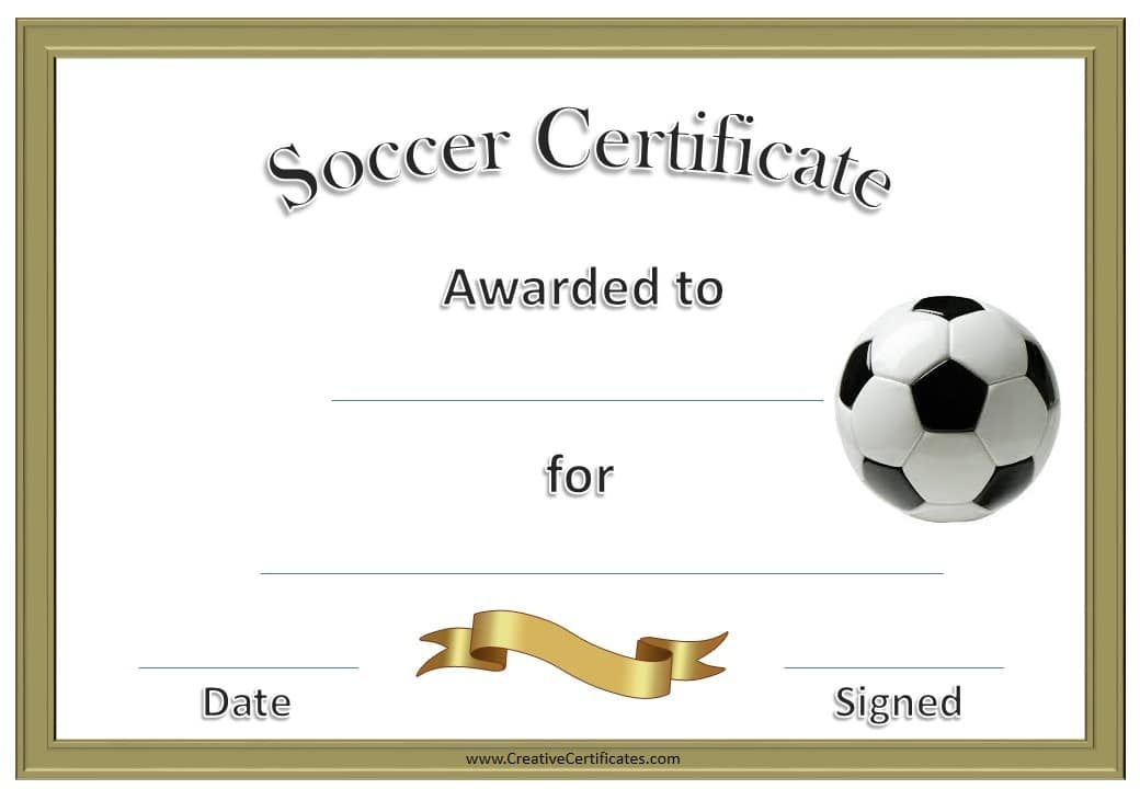 soccer award certificate template customize online therapeutic
