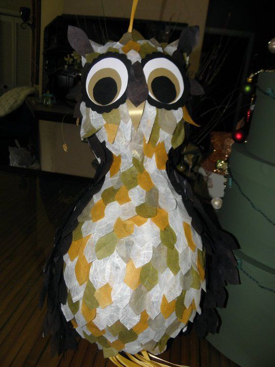 My son's 2nd birthday party:) Owl Pinata. I couldn't find anything online so I decided to make it myself! I love it!!!
