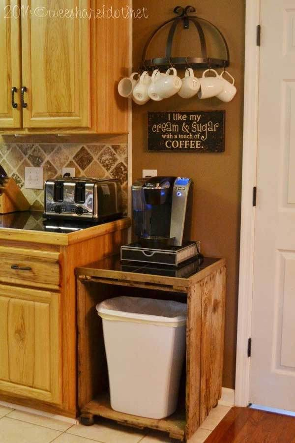 30 Extraordinary Creative and Graphic DIY Mug Storage To Beautify Your Kitchen | Home coffee ...