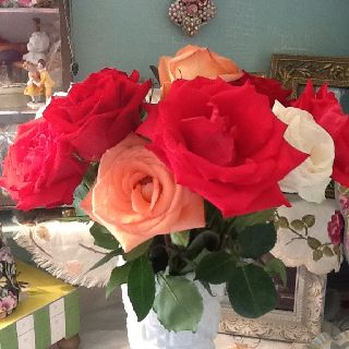 $5.00 grocery store roses...beautiful!
