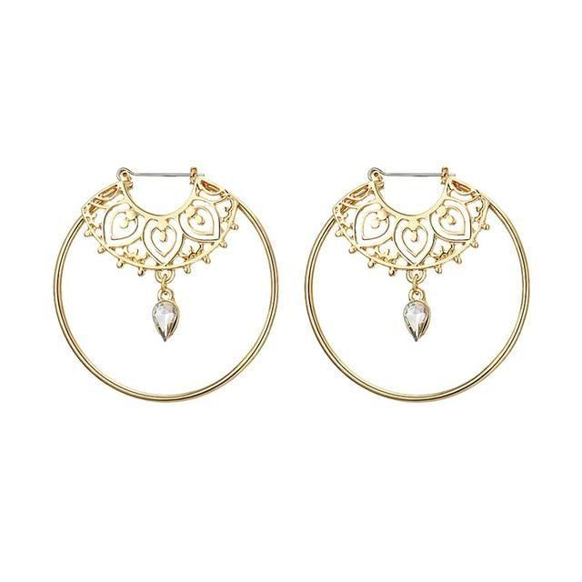 c2659e09073ea Bijeax (Gold design Big Circle Round Hoop Earrings)   Products ...