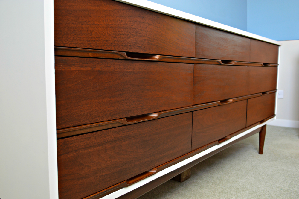 Refinishing A Mid Century Modern Dresser Mistakes & Lessons