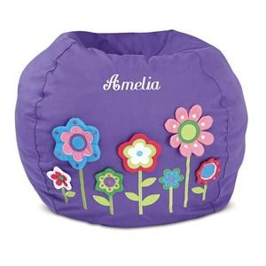 3 D Flowers Beanbag Chair