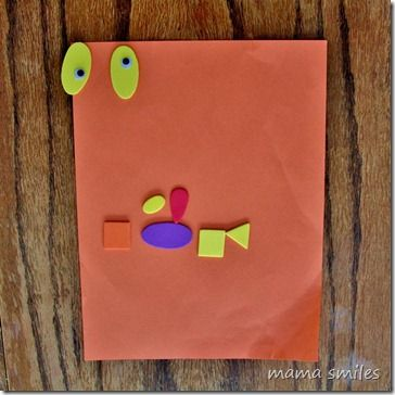 Quick  Easy Kid Craft Shape Monsters Monsters, Shapes and Joyful - halloween kids craft ideas