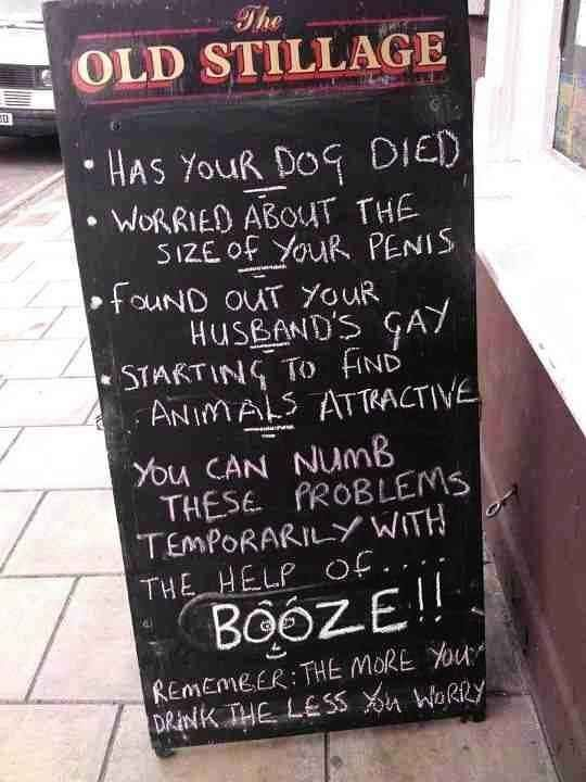 The Landlord Responsible For This Chalkboard Funny Bar Signs