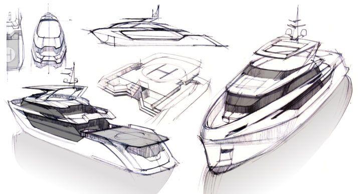 Greywolf 40 meter explorer yacht by politecnico di milano for Politecnico milano design