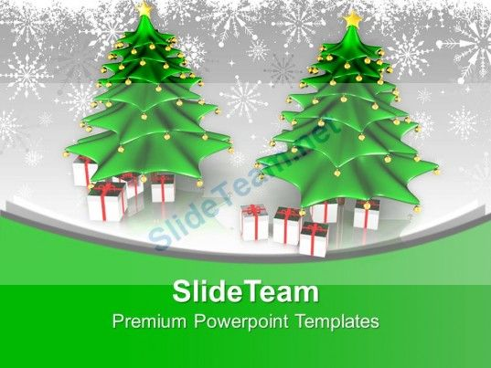 Attractive Christmas Trees With Gifts Winter Holidays PowerPoint - winter powerpoint template