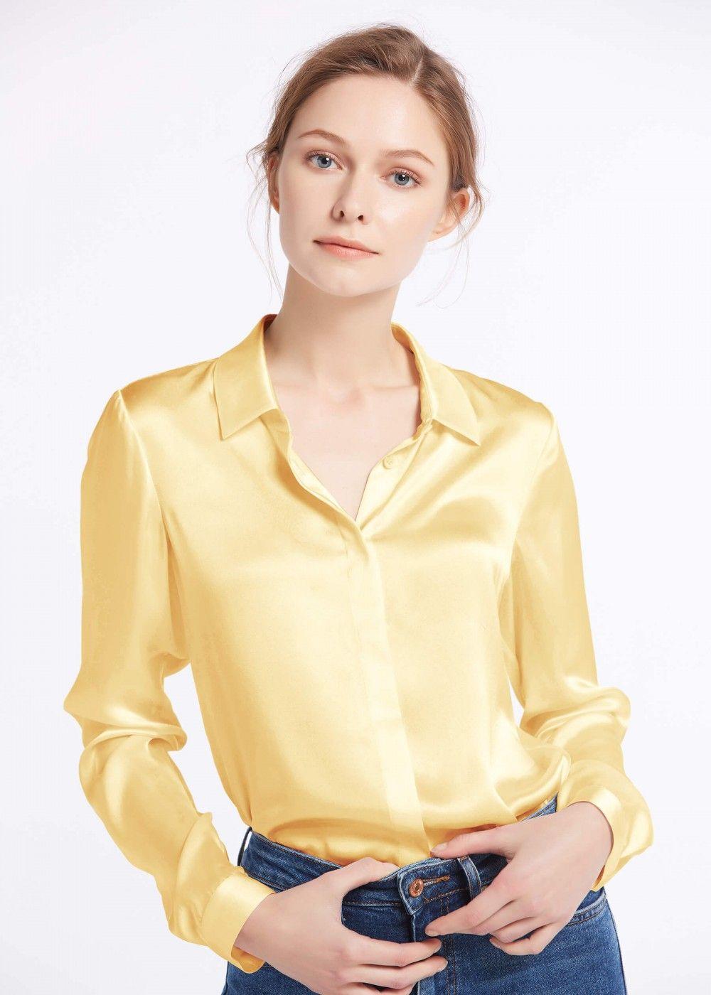 1de717c27 Basic Concealed Placket Silk Shirts in 2019