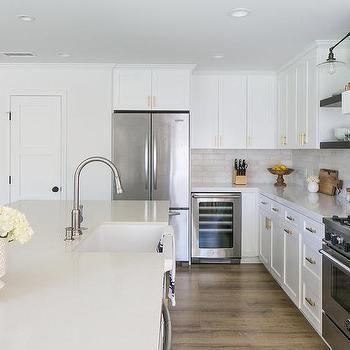Refrigerator Next To Mini Glass Front Wine Cooler Kitchen Island With Sink Kitchen Island Tops Kitchen Island With Sink And Dishwasher