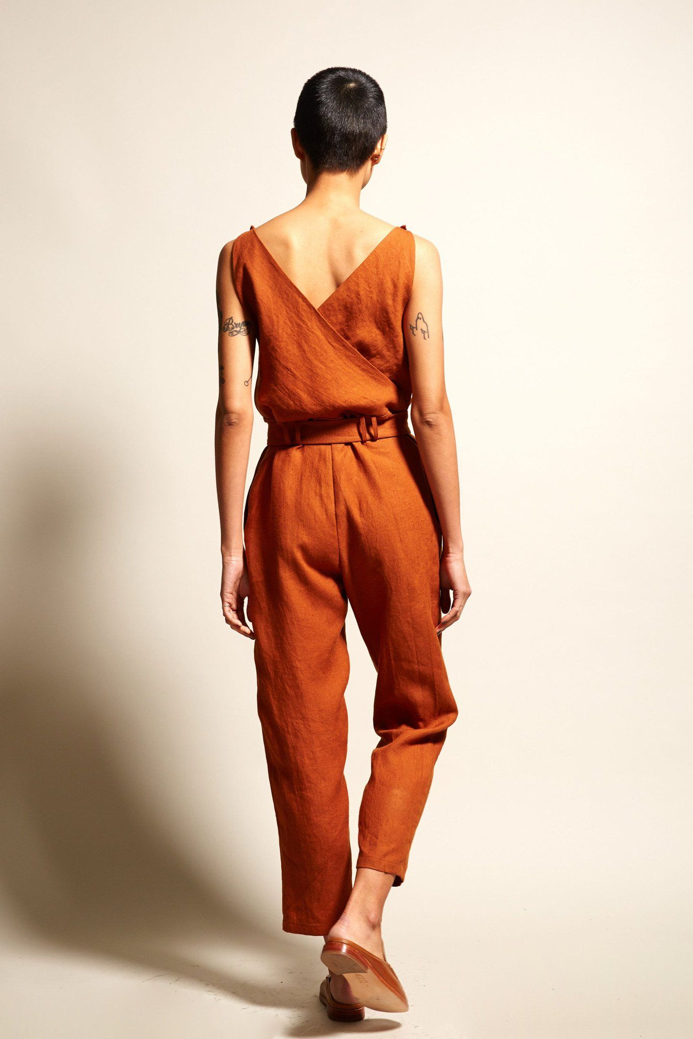 c283eabc1f6 No.6 Taylor Jumpsuit in Sienna Linen
