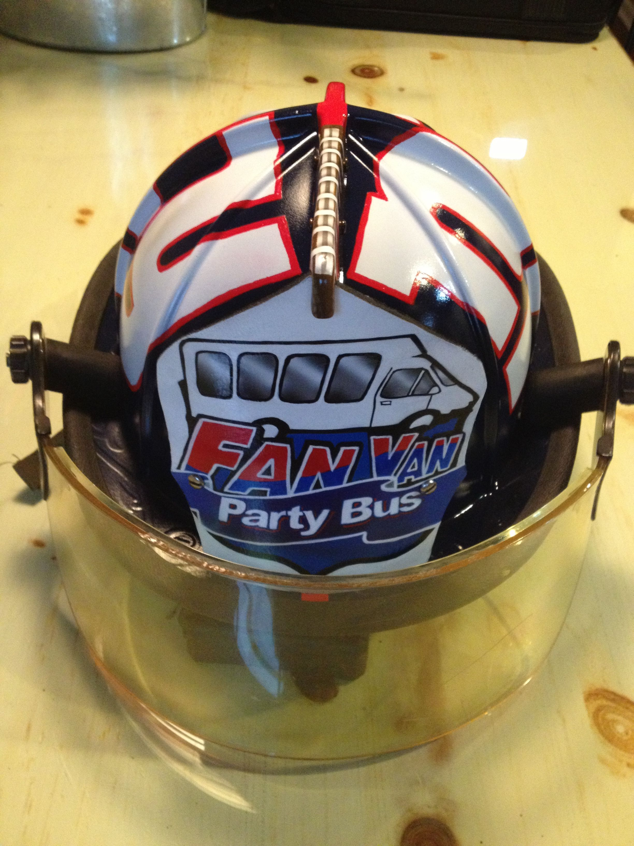 All finished and reassembled. The NY Giants Fan Van fire helmet ... 49db0841838