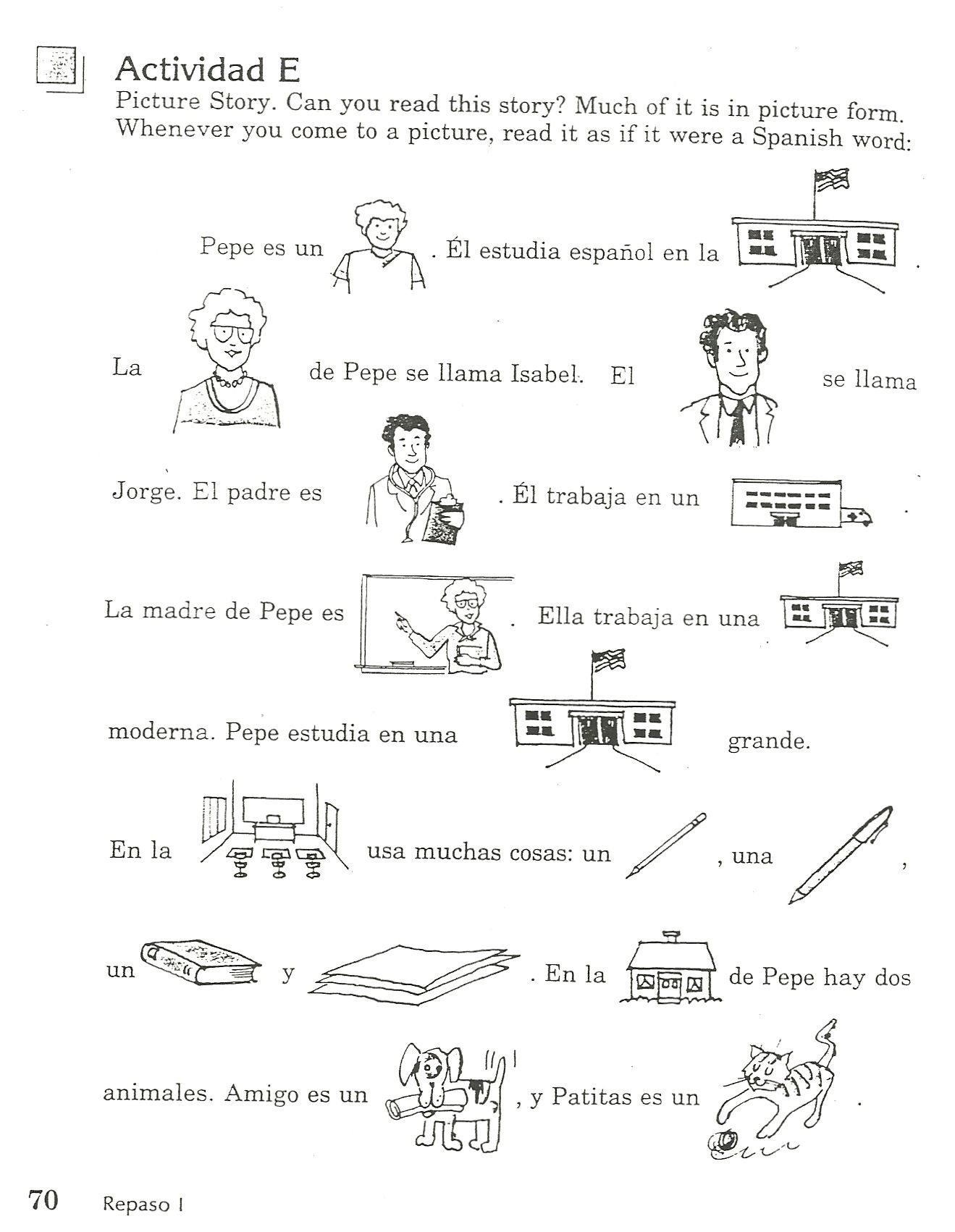 Spanish Picture Story