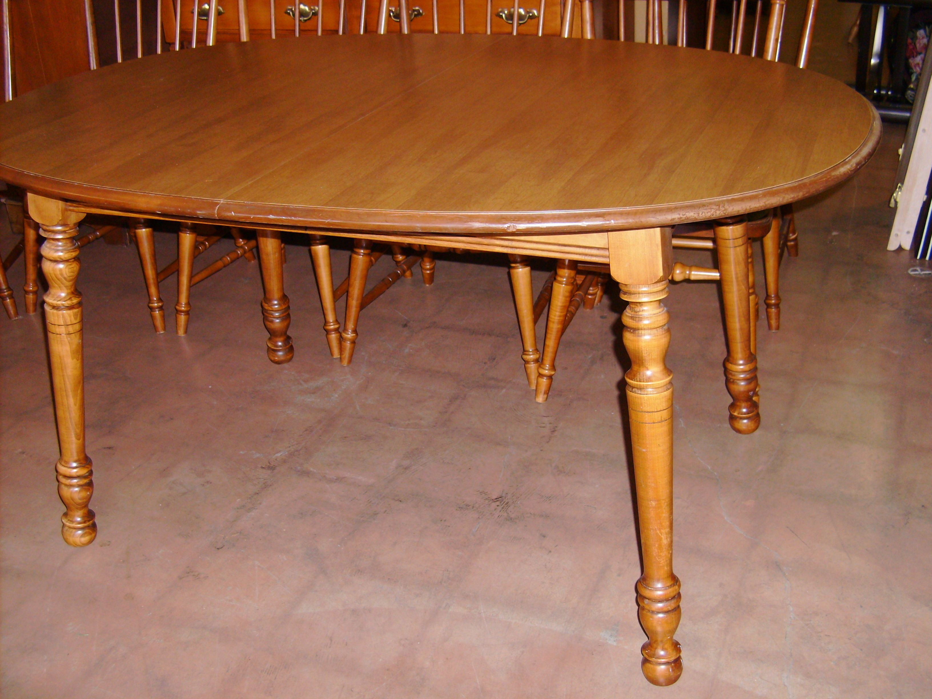 Tell City Dining Or Kitchen Table Maple Dining Table Furniture Maple Furniture