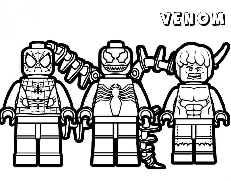 Lego Venom Coloring Pages   Lego coloring pages, Spiderman ...