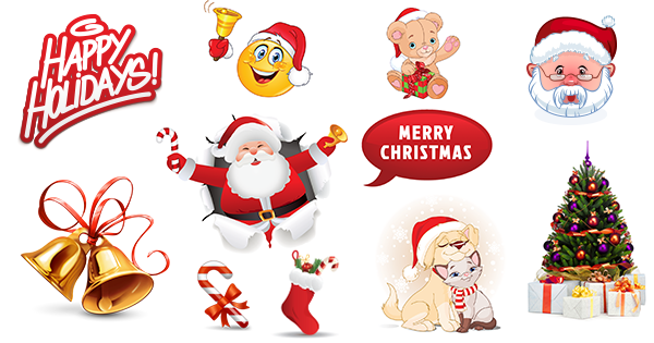 Smileys App With 1000 Smileys For Facebook Whatsapp Or Any Other Messenger Smiley Santa Hat Vector Emoticon