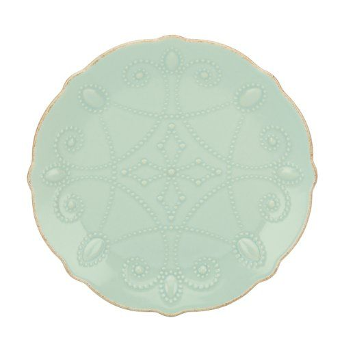 Lenox French Perle Assorted Plates, 7.5-Inch, Ice Blue, Set of 4