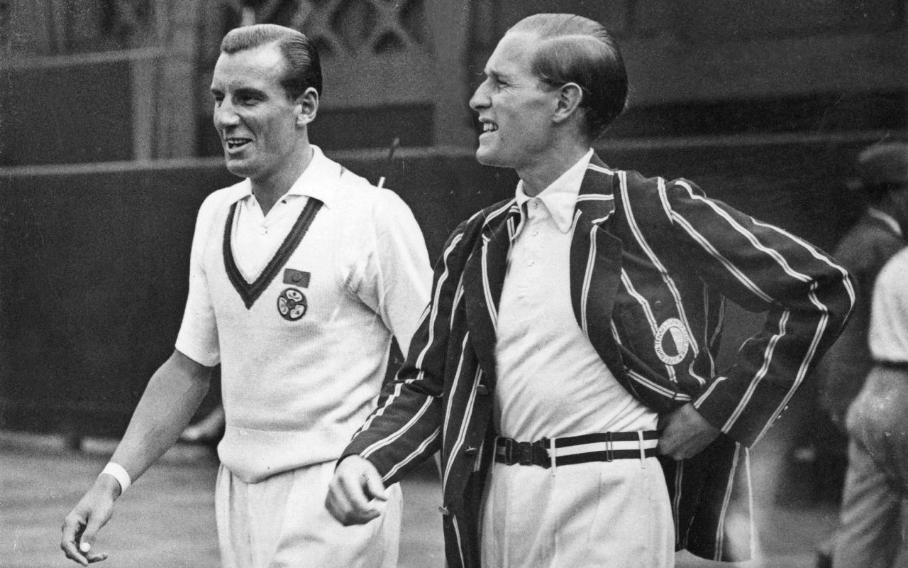 Fred Perry and Gottfried von Cramm 1936