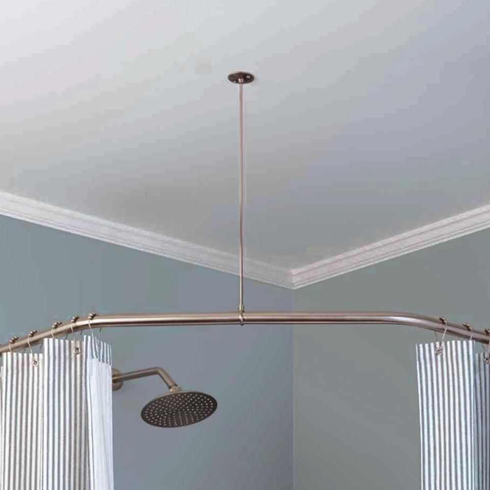 Connects From Shower Rod To Ceiling Screws Into Ceiling To Give