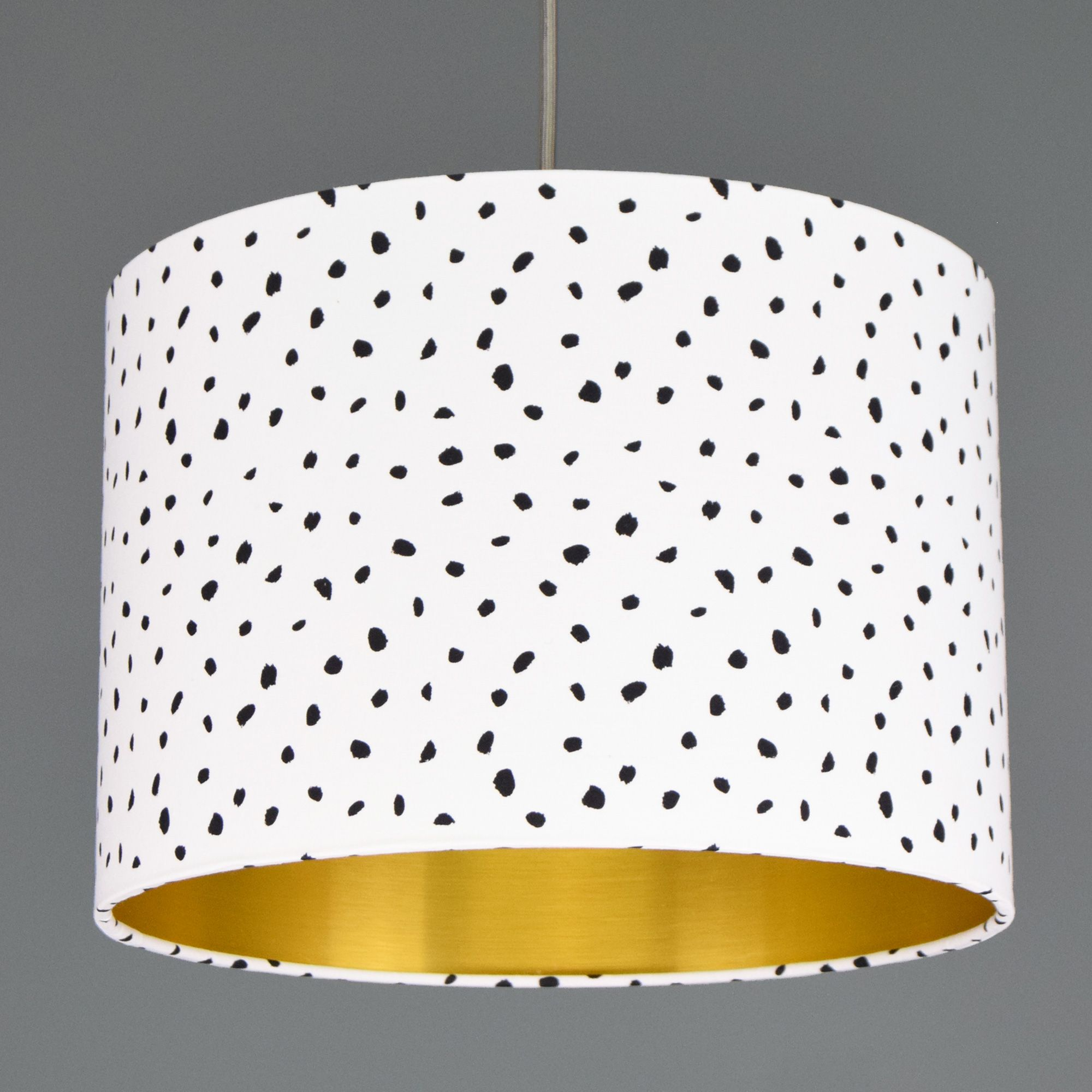 Dalmatian Spot Lampshade With Choice Of Metallic Lining in