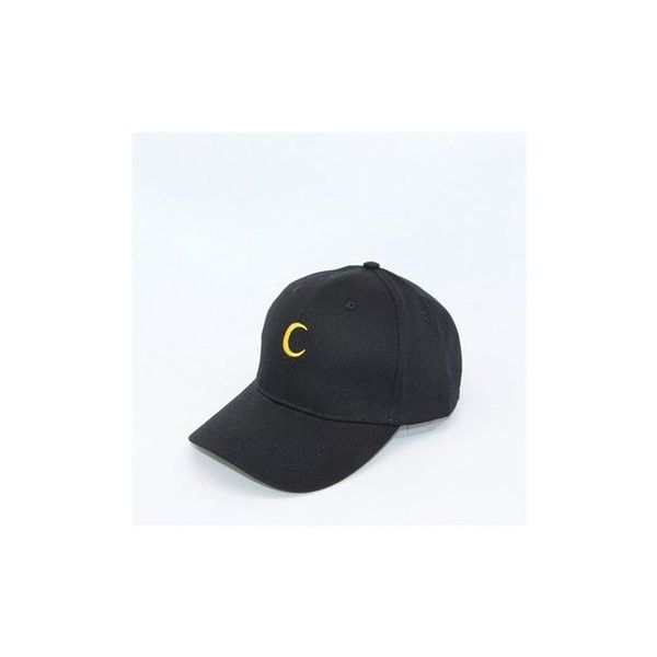 ededd732c5e Unisex Moon Hat Hip Hop Kpop Sport Curved Strapback Adjustable... ( 6.44) ❤  liked on Polyvore featuring accessories