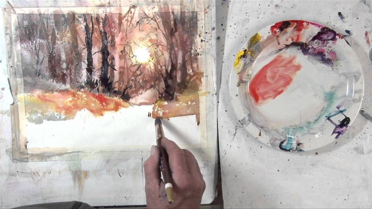 Experimental Landscape In Watercolour Pt 2 Watercolor Paintings