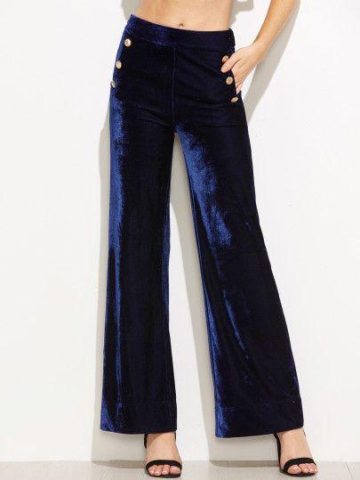 Dark blue velvet pants vintage