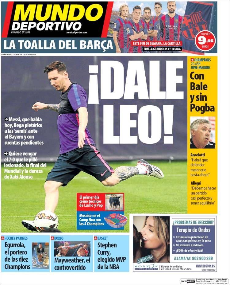 Portada Mundo Deportivo 5/05/2015 Mundo deportivo