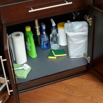 24 In X 48 In Under Sink Mat And Woven Graphite With Images Sink Mats Under Kitchen Sinks Sink Shelf