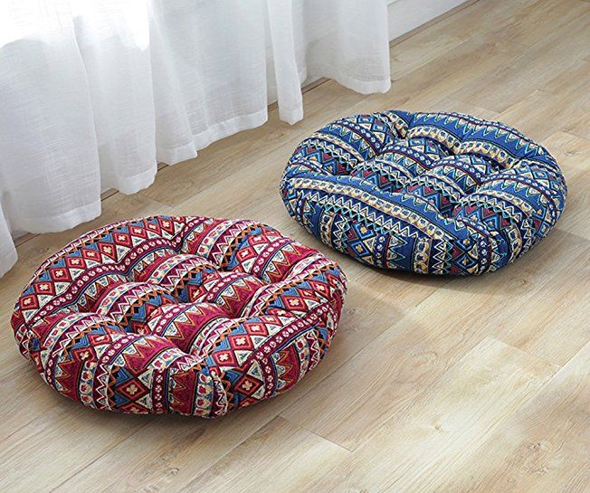 3800TMJJ Cotton Linen Round Floor Pillow Cushion Japanese Futon