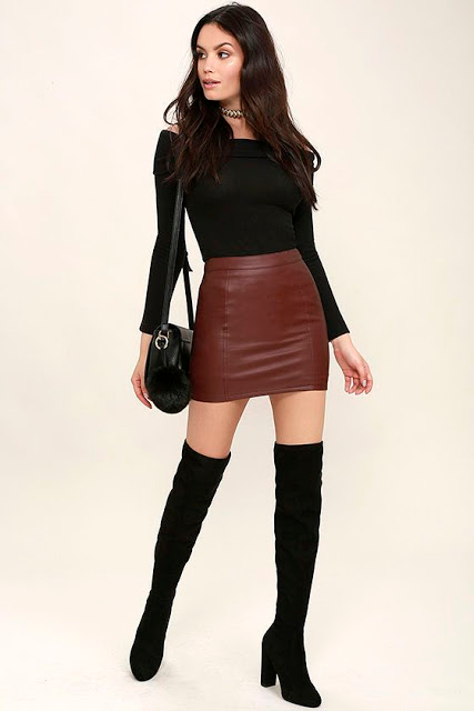 Miscellaneous Leather 118: Leather Mini-Skirts (Pa