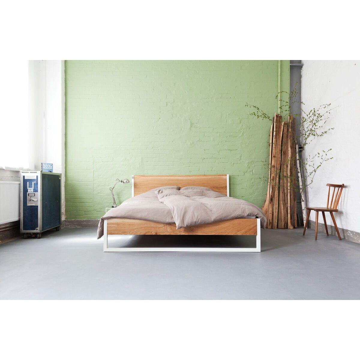 N51E12 Nature Oak Bed / Eiche Stahl selekkt Heim für