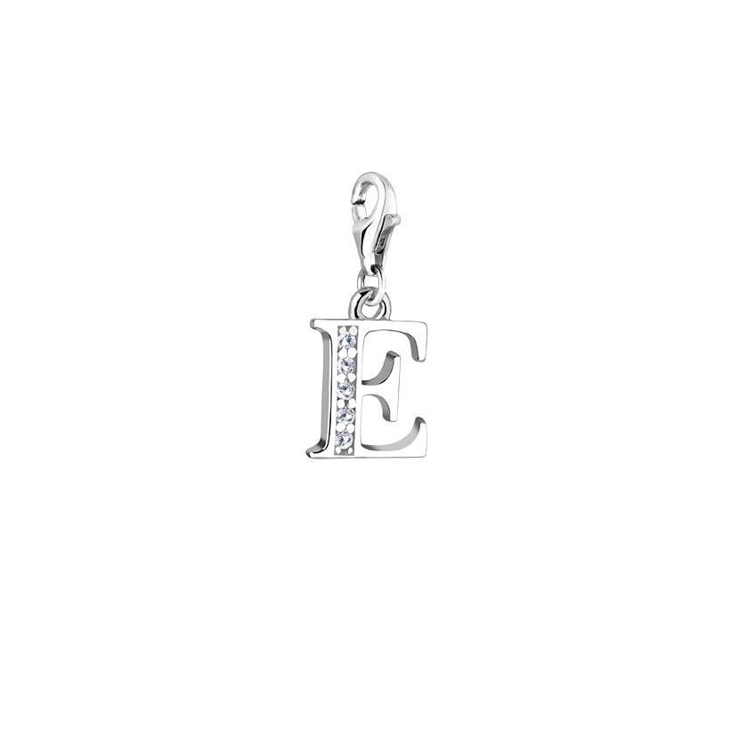 Letter e charminitial charmcustom silver letterhandmade charm initial charmletter e charmcustom silver letterhandmade charmcharm for aloadofball Image collections