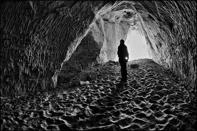 Exploring the haunted Wabasha Caves along the river bluff area of West St. Paul, MN