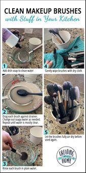 Photo of Reinigen Sie Make-up Pinsel mit Stuff in Ihrer Küche  CreatingMaryShome.com#Bea…