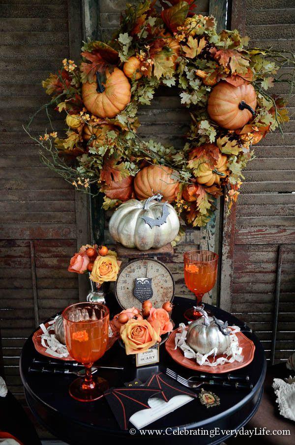 Set a Halloween Table Pinterest Halloween table and Halloween porch - romantic halloween ideas
