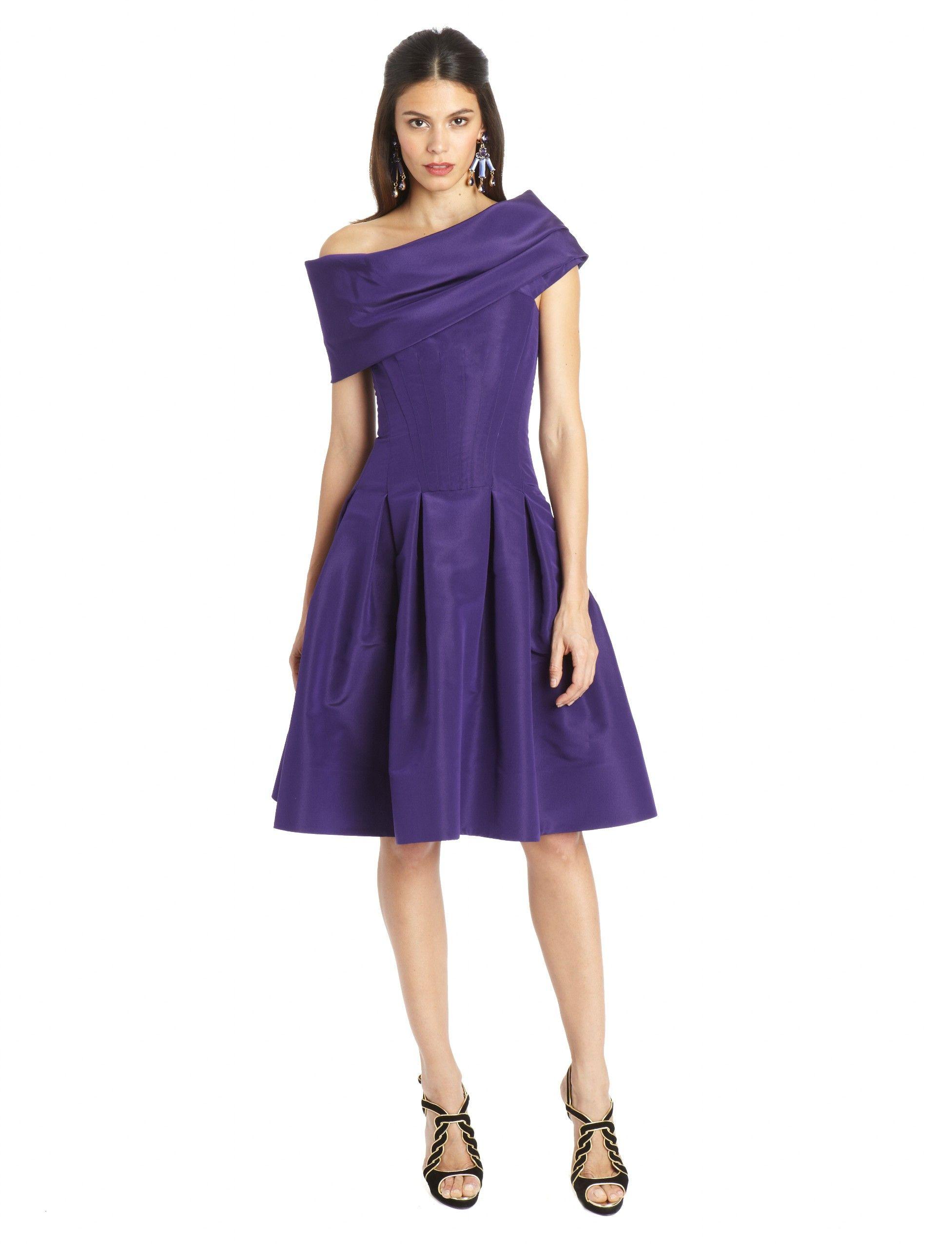 Oscar de la Renta - Silk Faille Cocktail Dress | Abbigliamento ...