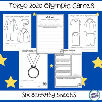 Tokyo 2020 (2021) Olympic Games activity sheets worksheets ...