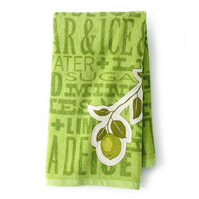 Sonoma Life Style Lime Patch Kitchen Towel Green Walls To Match