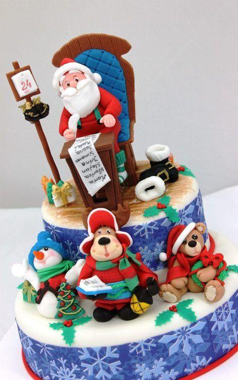 fondant cake christmas -