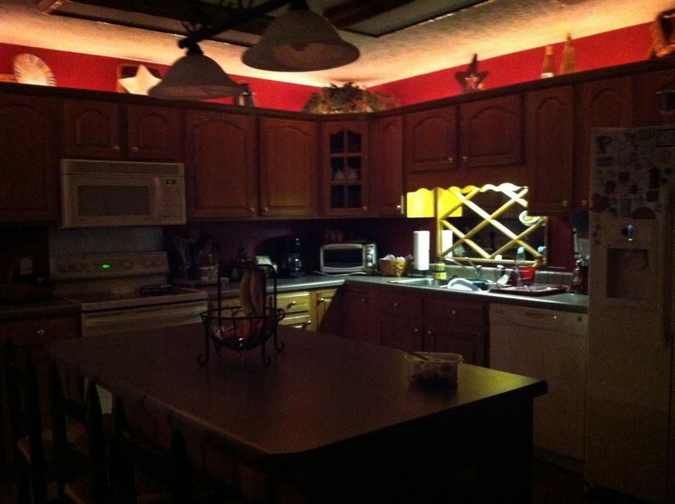 Rope Lights Used On Top Of Kitchen Cabinets