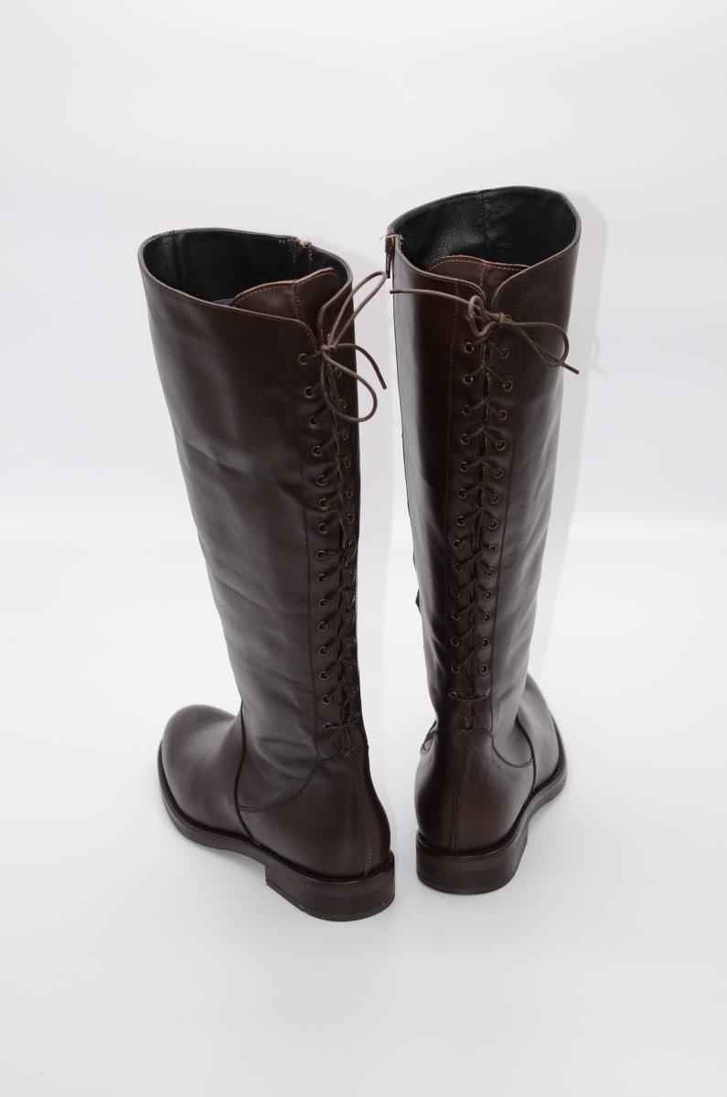 Stiefel 15 Loch in braun XL Schaftweite | | Plus Size Shoes
