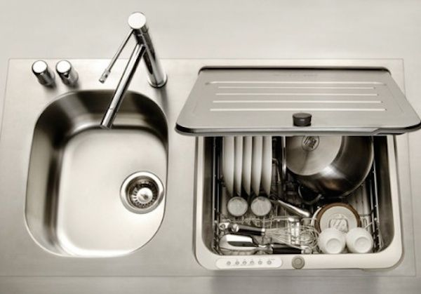 Space Saving Kitchen Ideas Combo Sink And Dishwasher Tiny