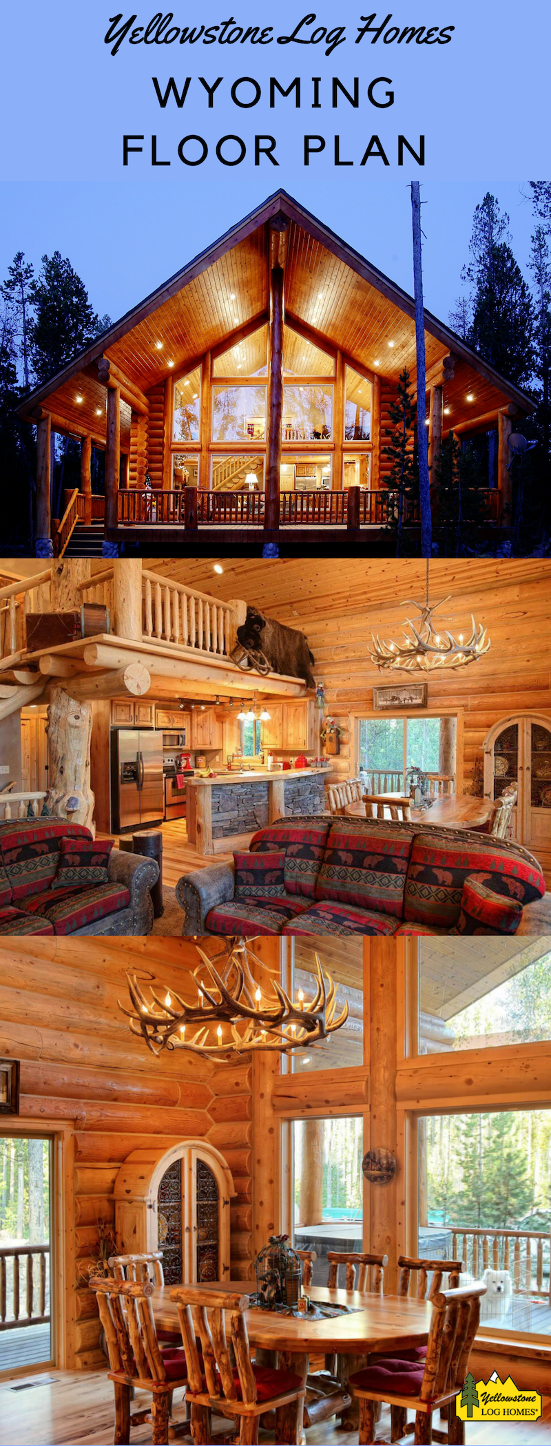 Inside The Wyoming Floor Plan Log Home Floor Plans Log Homes Log Home Kits