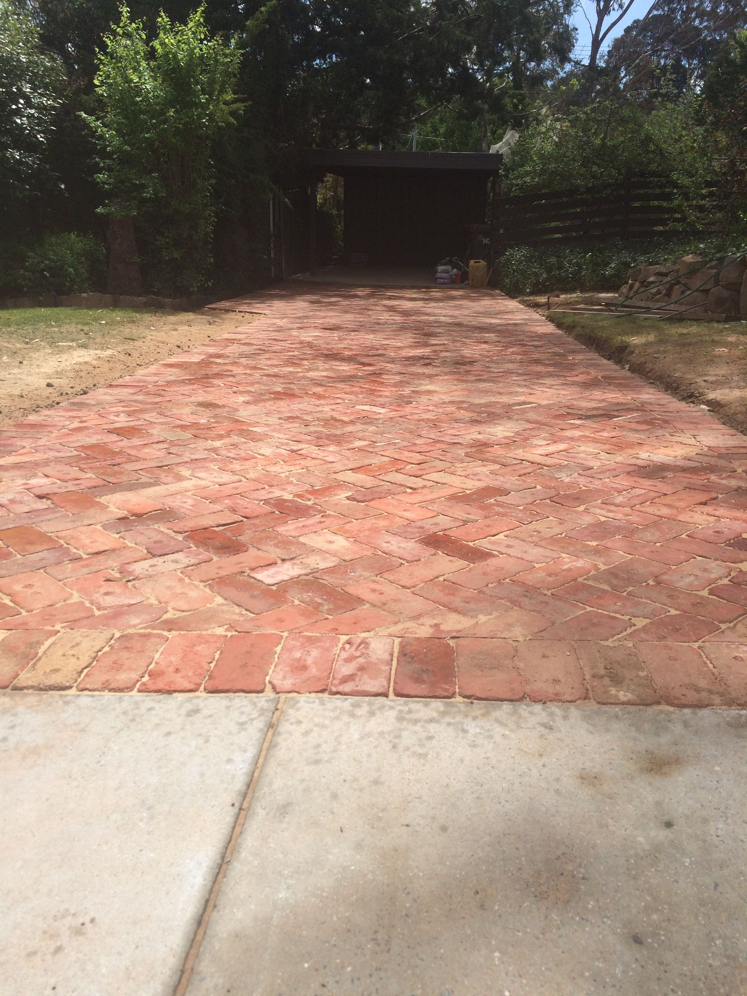 Recycled Canberra Red Driveway