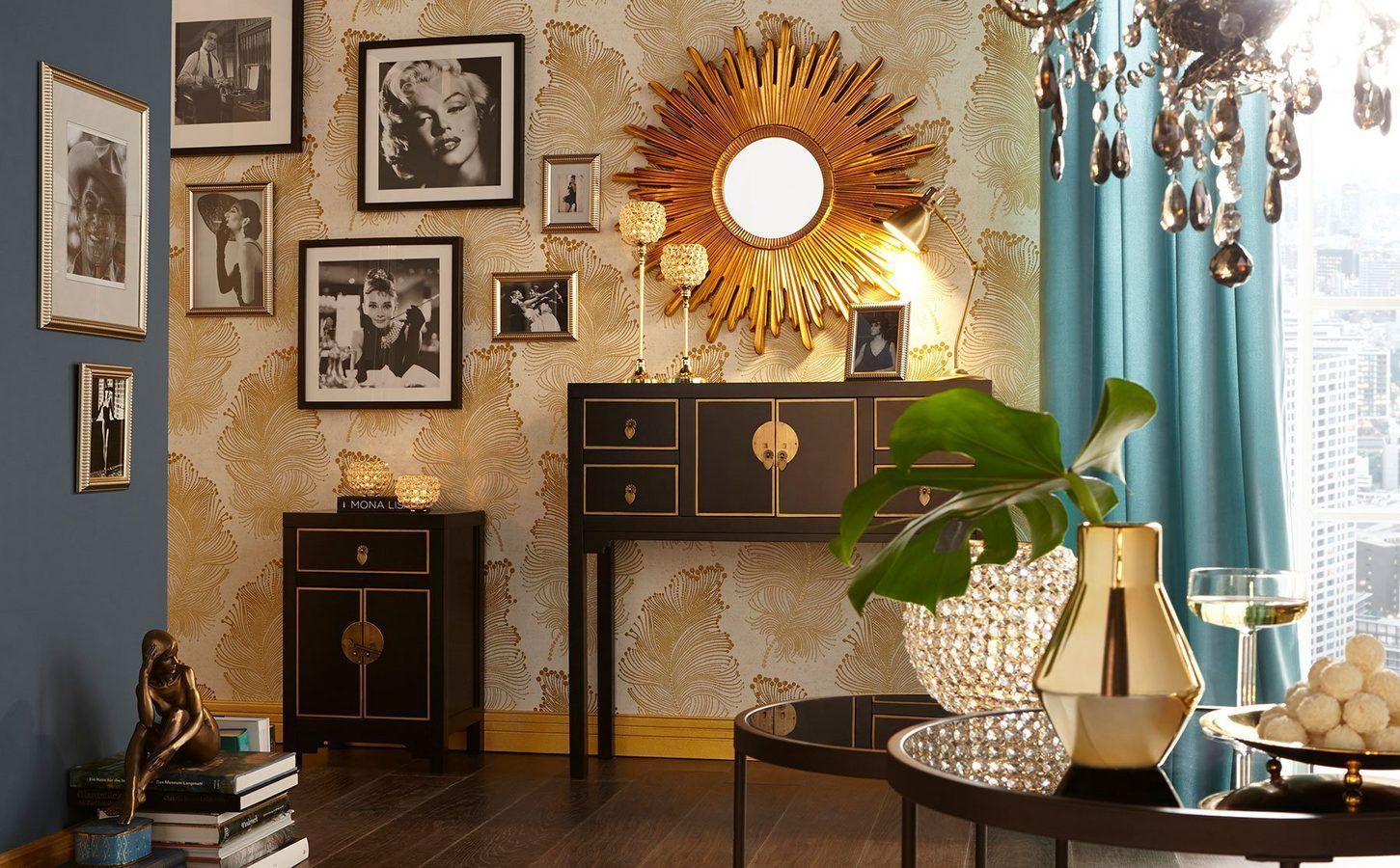 20er jahre glam golden 20ies k che einrichtung tisch und wohnideen. Black Bedroom Furniture Sets. Home Design Ideas