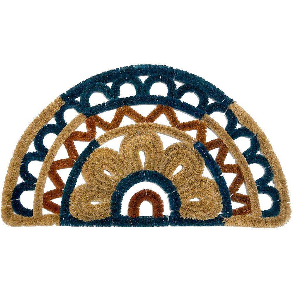 Rubbercal ulagunau halfcircle woven doormat x