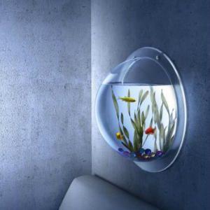 Acuario de pared synthetikpark decoracion pinterest acuario de pared acuario y pecera - Peceras de diseno ...