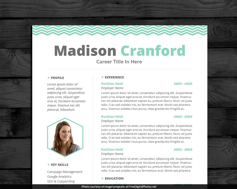Creative Resume Template  Edit In Word   Pages Plus Cover