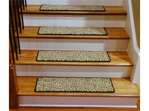 Best Leopard Stair Treads Stair Tread Rugs Carpet Stairs 400 x 300